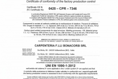 Certificato 1090 EXC3 BONACORSI